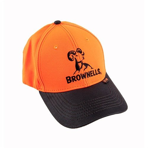 Brownells Blaze Orange/Brown Cap