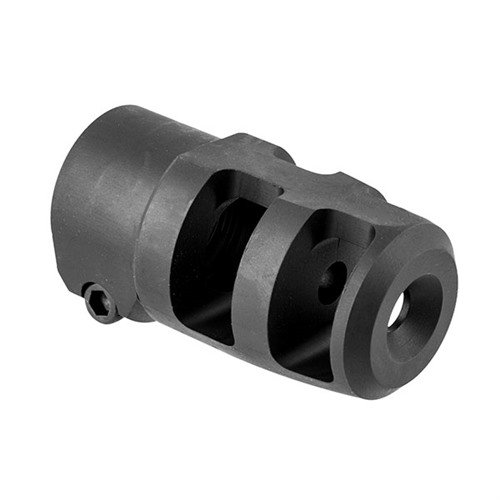 Mini FTE Muzzle Brake 22 Caliber 5/8-24 Steel Black