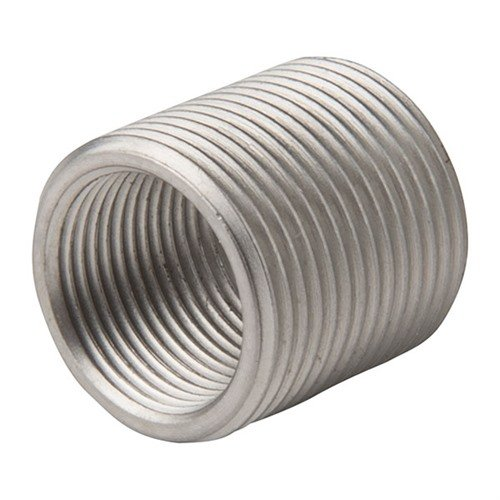 Shoulderless Thread Adapter 1/2-28to5/8-24 Stainless Steel