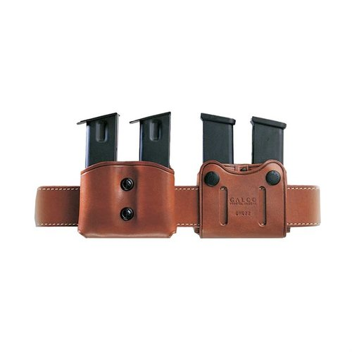 Double Mag Carrier 9mm Staggered Metal Mag-Tan