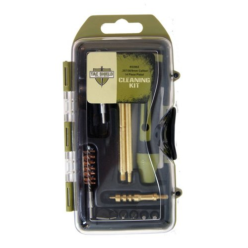 Pistol Cleaning Kit for 38/357/9mm 14 Pc