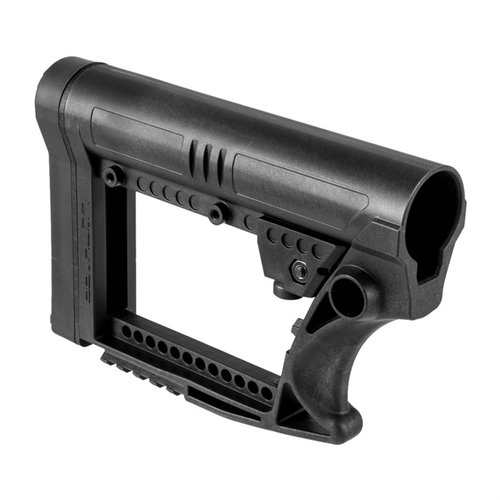 AR-15 Skullation Stock Assembly Collapsible Carbine Black