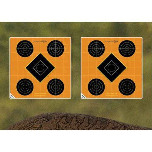1.5 Orange Shooting Circles 12 sheets (96 ct)