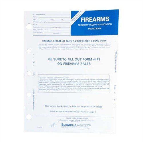 Firearms Record Book-10 Pack
