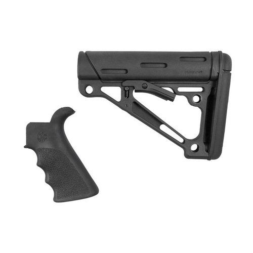 AR-15 FG BT Grip& OverMold Buttstock Collapsible Comm Blk