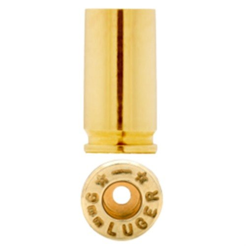 9mm Luger Brass Cases 100/Bag